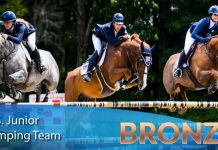 US Junior Team of Showjumpers in China
