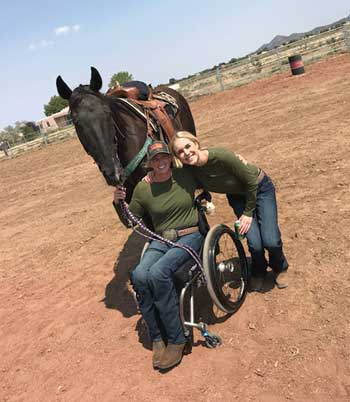 Amberley Snyder and friend