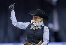 Western dressage rider