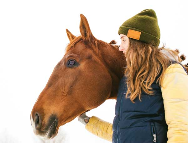 Horse and Owner during winter - Getting Horse through winter