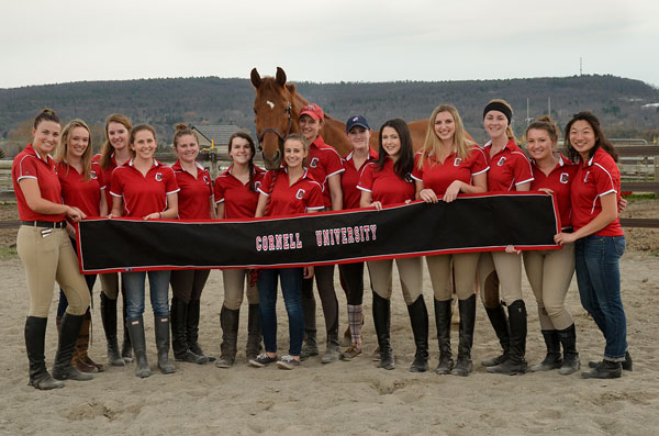Clifford with the Cornell Equestrian Team