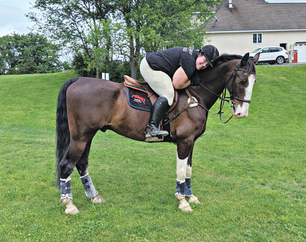 Kylie Standish and Noodle - self-acceptance as a rider