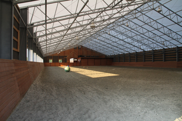 Indoor Arena at Quinis Design Works Equestrian Property