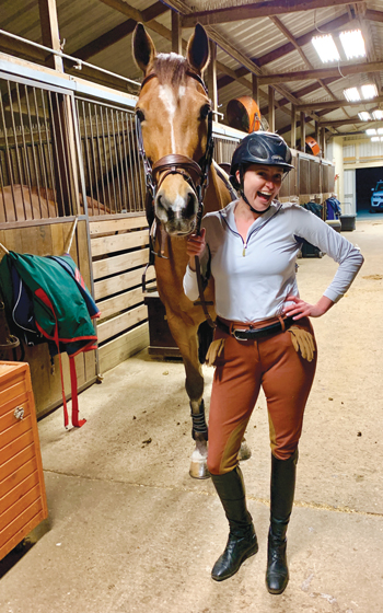Emily Bogenschutz at the barn