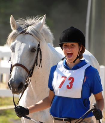 Happy U.S. Pony Clubs Rider