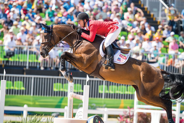 McLain Ward and HH Azur at the 2016 Rio Olympic Games.