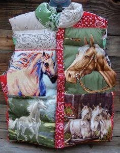 Totem Assorted Horses Equestrian Vest